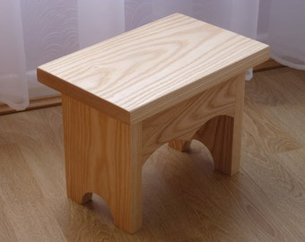 Solid Ash Stool,Traditional Furniture,Small Wooden Stool,Childrens Furniture,Wedding Gift,New Home Gift