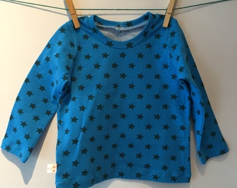 Star t-shirt with long sleeves, mt 78, starting from 6 months