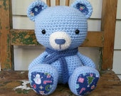 Winter Teddy Bear : Amigurumi Crochet Toy Bear, READY TO SHIP