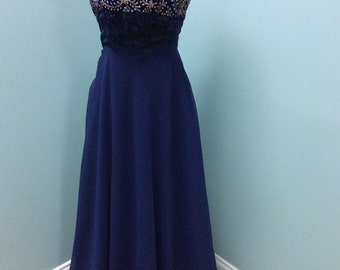 Beautiful Navy Blue Prom Dress/Gown