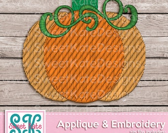 Fall Pumpkin Mini Machine Embroidery File {1 size} Instant Download {dst - exp - hus - jef - pes - pesv4 - vip - vp3} Sweet Kate Designs