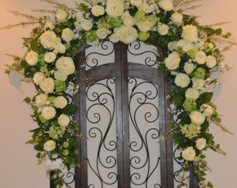 Wedding Arch, Wedding Arch Swag, Church Swag, Rustic Wedding Swag, Arbor Swag, Church Wedding Swag, Shabby Chic Arch
