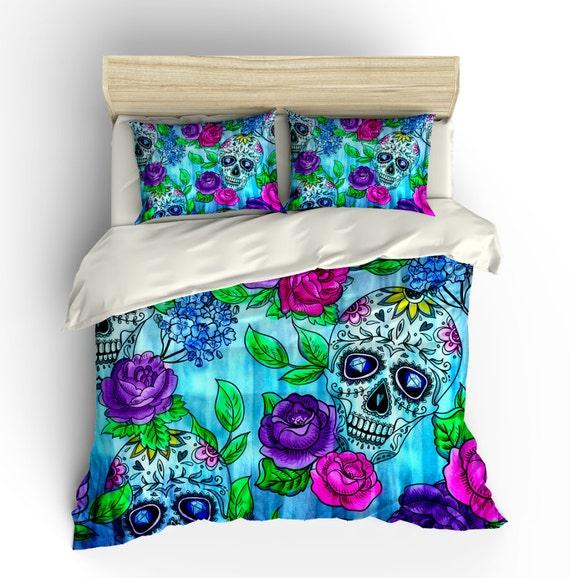 Skull Bedding Sugar Skulls Duvet Cover Comforter By