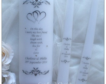 Unity Candle Set - Personalised Unity Candle - Wedding Candles - Unity Candle
