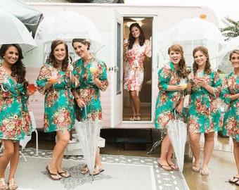 bridesmaid robes set of 8, bridesmaid gift, robe for bridesmaid, gift for bridesmaid, getting ready robe, bridal party robe