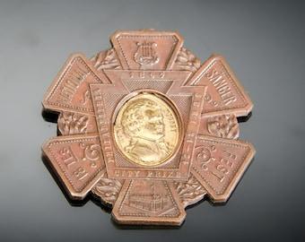 1897 National Sanger Saenger Fest Phila. city prize medal