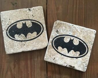 Tumbled Stone Batman Coasters