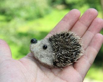Hedgehog Brooch felted wool brooch hedgehog, woolen animal brooch, hedgehog jewelry animal brooch Summer outdoors Christmas July Sale
