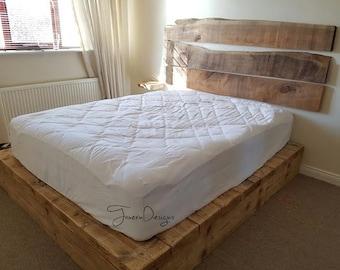 Rustic Platform Bed