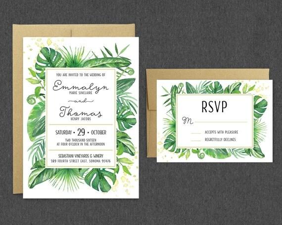 printable tropical wedding invitation rsvp tropical With tropical print wedding invitations