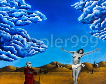 """8.5x11 inch Fine Art Print of Original Painting """"Lest She Be Judged."""""""