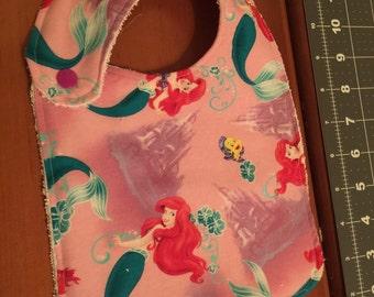 Little mermaid baby bibs and toddler bibs