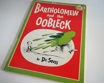 Vintage Dr. Seuss Book - Bartholomew and the Oobleck  - 1977 - paperback, soft cover, children, illustrated, early reader, Random House