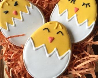 Spring Chick Sugar Cookies;  Easter cookies
