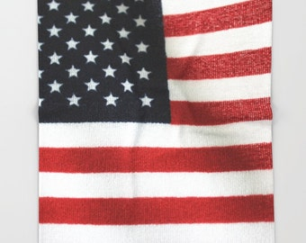 American Flag Blanket-Fleece Blanket-Red-White-Blue-Stars-Stripes-Polar Throw Blanket-Gift Ideas--4 Sizes Available!