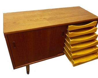 Medium Size Danish Mid-Century Teak Sideboard, Vintage
