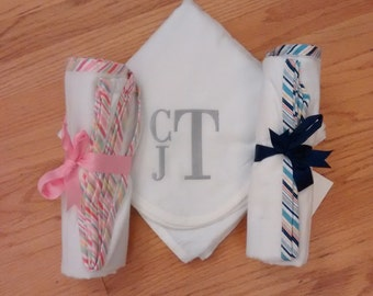 Monogrammed Receiving Blanket