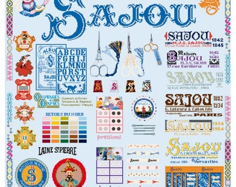 The History of Maison Sajou in cross stitch