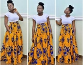 FLASH SALE - 20% OFF The Lisa Maxi skirt, African print skirt, Full skirt with pockets, african skirt, maxi skirt, african dress, print skir