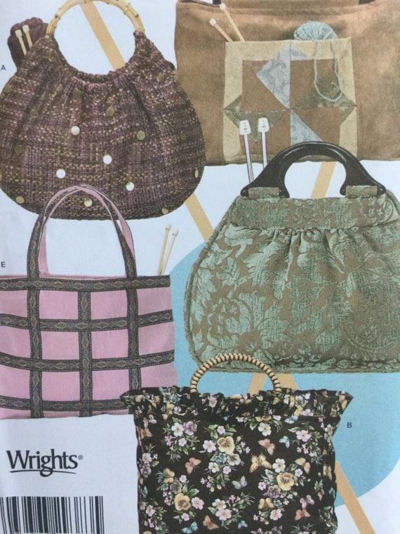 Simplicity 4338 Knitting Bags,Sewing Pattern, Sewing Bag ...