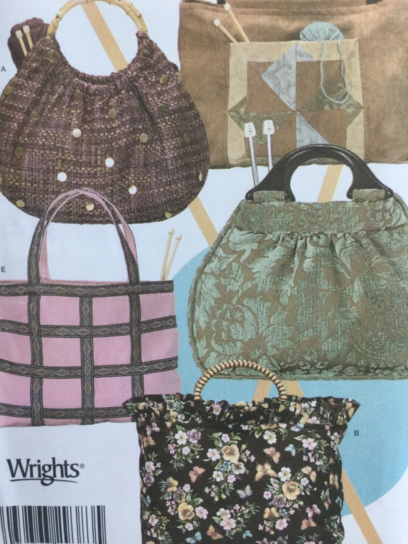 Knitting Bag Patterns Sewing : Simplicity knitting bags sewing pattern bag