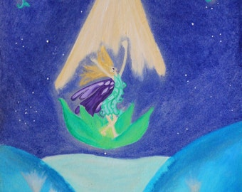 """Fairy Vision - Poster Proposition with Fairy Blessings ( text)- Art from """"The Book of Fairies""""-"""