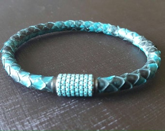 Original Python Skin Leather Bracelet