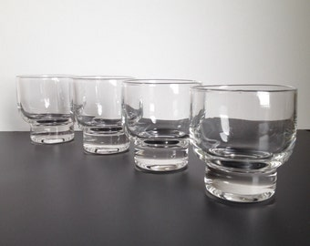 Four Eva Zeisel Stockholm Old-Fashioned Glasses by Federal Glass