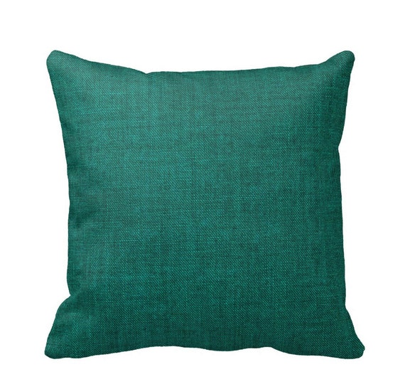 Etsy Teal Throw Pillow : Items similar to Emerald Teal Cotton Throw Pillow Cover by Primal Vogue - Sizes 14x14 16x16 ...