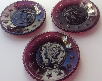 Summit Art Glass Purple Plates