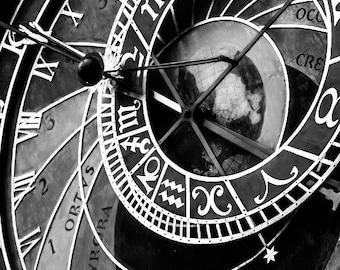 """Prague Photography, Clock Photo, Prague Print, """"Astronomical Clock"""""""