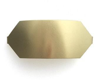 Brass Hex Barrette