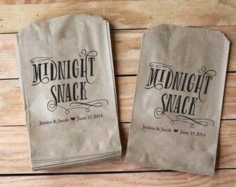 Midnight Snack Wedding Favor Dessert Treat Bags