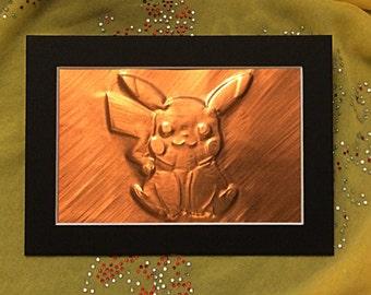 Pikachu Pokemon Copper Emboss