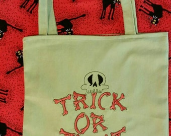 Trick or treat Halloween  trick or treat bag