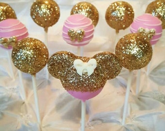 Gold Mickey/Minnie Mouse Pops