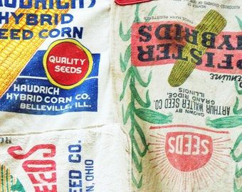 Feed Sack Wall Tapestry / Vintage Art / Room Divider / Authentic Americana / Well sewn together / Large Curtain