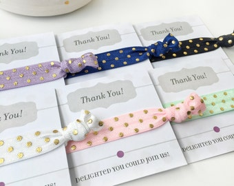 Polka Dot Birthday Party Favors Girls, Hair Tie Birthday Party Thank You Gifts, Birthday Party Decorations, Women's Hair Tie Favors
