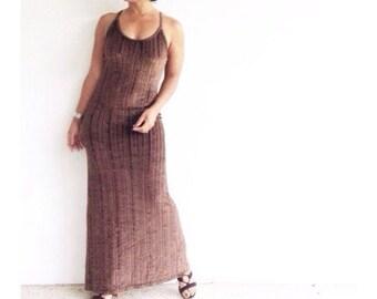 the slinky ribbed velvet column dress . 90s velvet maxi dress