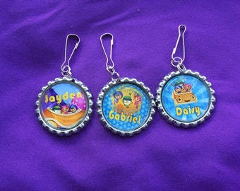 12 Personalized Team Umizoomi Zipper Pulls, Party Favors