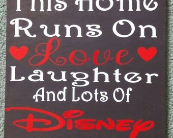 This home runs on love, laughter, and lots of Disney Sign