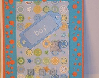 Baby - Boy Stamped Card