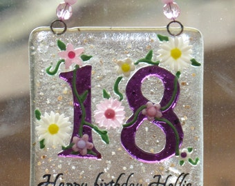 Milestone birthday gift - birthday gift for her- best friend gift - made to order 18th 21st 30th 40th 50th 60th 70th , sparkly plaque