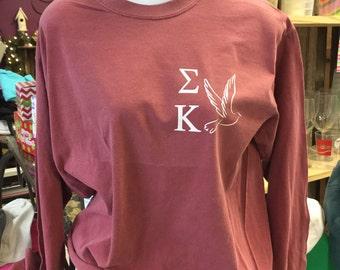 Sigma Kappa Dove Comfort Colors Shirt