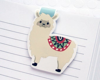 Alpaca Magnetic Bookmark, Kawaii Alpaca Planner Clip, Cute Alpaca Planner Accessory for Books, Book Lovers, Cookbooks, Love Reading
