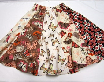 Girls Twirly Skirt with Butterflies and Birds in Size  16