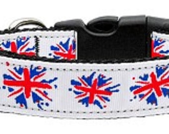 Fancy British Flag - UK Dog Collar/Leash (Union Jack)