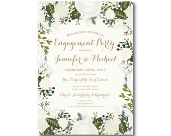 PRINTABLE Engagement Party Invitation, Engagement Party Invitation, They're Engaged, We're Engaged, Engagement Party Invitation #CL120
