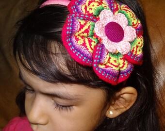 Peruvian Headband. Hair clip, Aligator clip, Elastic Headband, Plastic Headband.  For babies and girls.