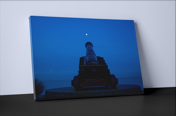 Lunar Cannon | Mirror Wrapped Canvas